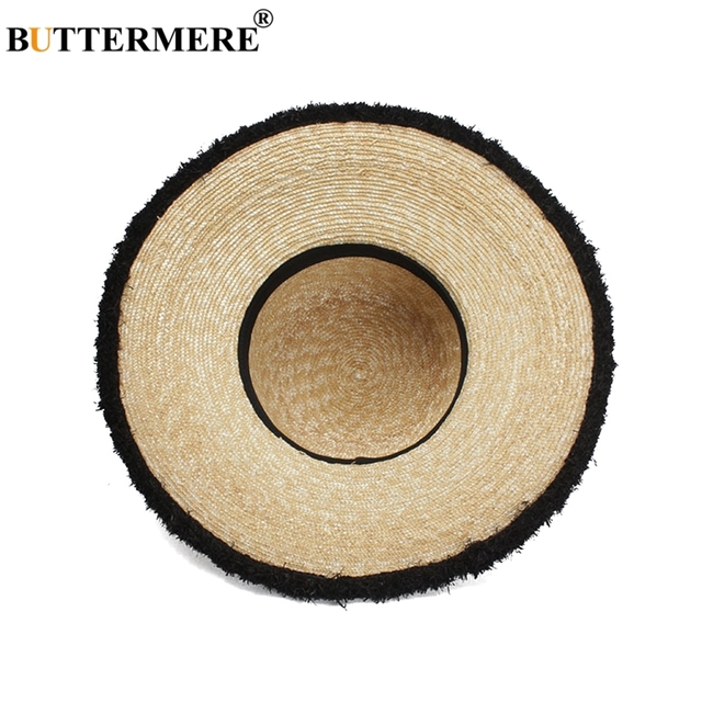 BUTTERMERE Women Sun Hats Beige Casual Straw Hat Female Wide Brim Anti-UV Ladies Summer Travel Sombreros Beach Caps Fashion 2018 5