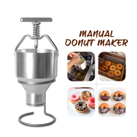 New Arrival 2.5L Donut Maker Food Processor Stainless Steel Waffle Dispenser Donut Mould Adjustable Size Snack Machine|Food Processors| |  -