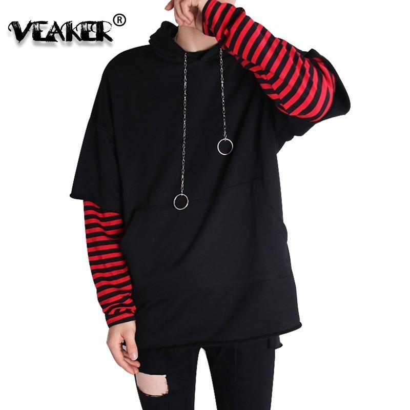 Hoodies Men's Hoodie Fake Two Piece Hoodies Spring Rings Sweatshirt Harajuku Women/Men Hip Hop Winter Camouflage Autumn Pullover