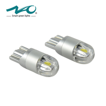 2x W5W LED 12V T10 Car lamps 168 194 Turn Side License Plate Light car parking Fog light clearance light white yellow NAO
