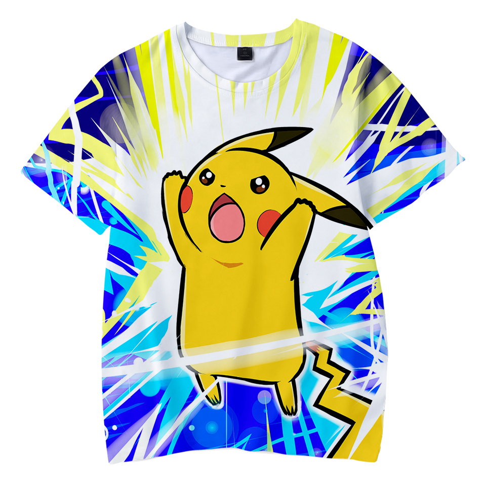 Kawaii 3D Pokemon Print Childrens Harajuku T-shirts  kids Casual Clothes 2018 Hot Sale Short Sleeve TShirt  Kpop Hip Hop 3