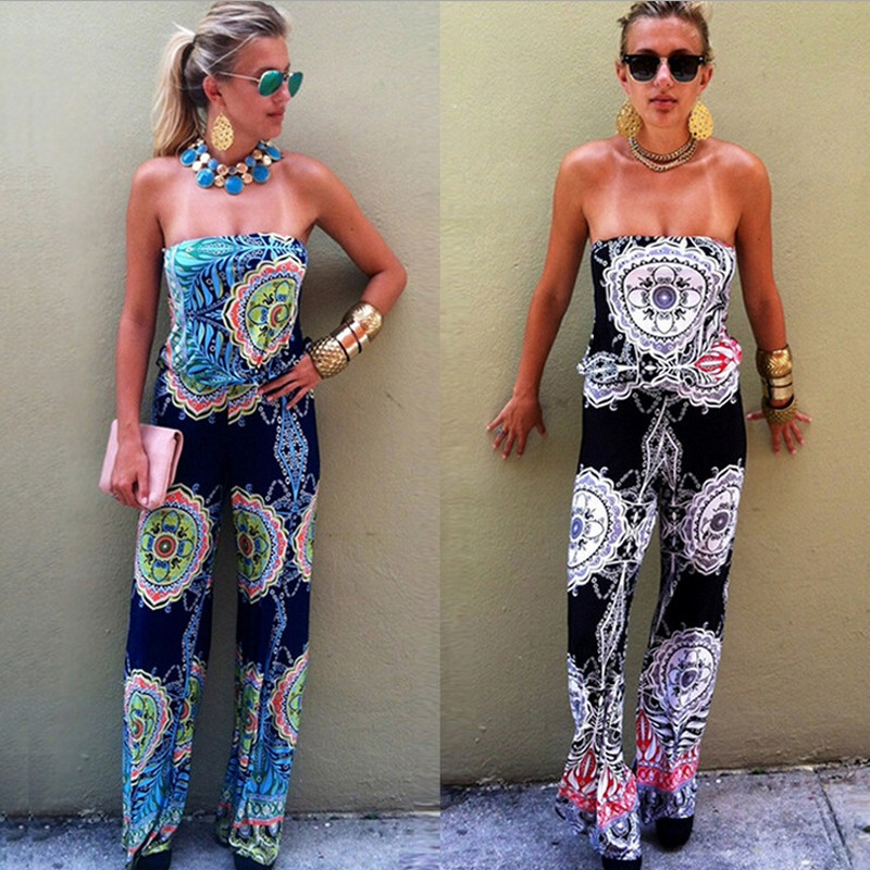 Plus Size Jumpsuit Casual Overalls For Women Rompers Woman Jumpsuits Bodysuit Sexy Sleeveless Long Pants Blue Romper Pants 2016