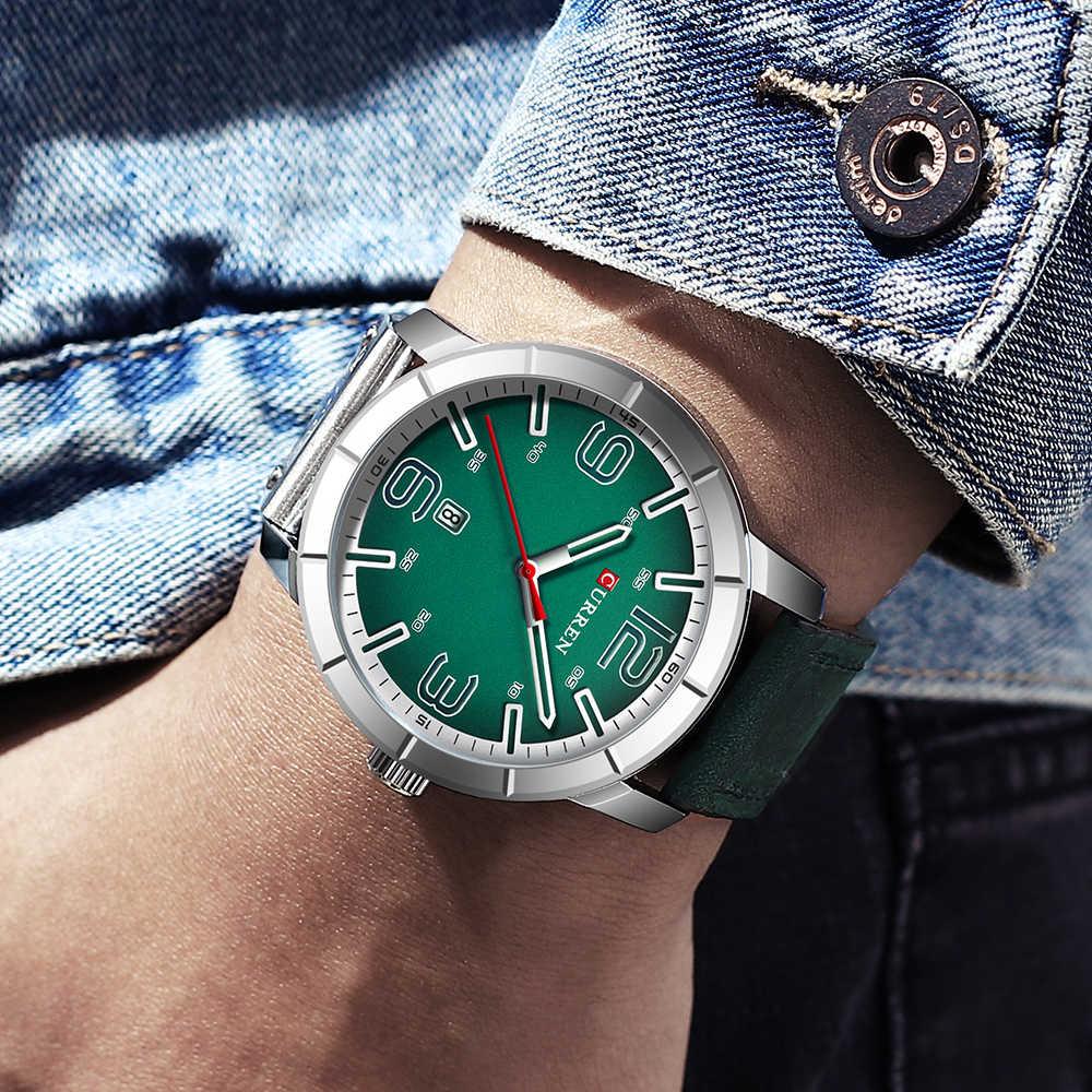 ساعة معصم كوارتز رجالية من CURREN موضة 2019 ساعة رجالية فاخرة من أفضل العلامات التجارية ساعات معصم جلدية مع تقويم
