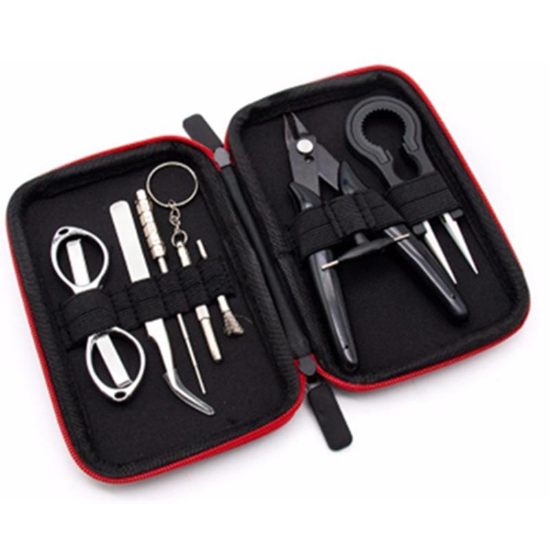 Werkzeuge Zangen Diy Tools Kit Tasche X9 Fall Pinzette Zangen Draht Heizung Spule Jig Schere Set Für Rdta Tank Vape Elektronische Zigarette Zubehör So Effektiv Wie Eine Fee