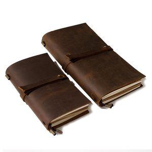 Image 3 - Junetree Handgemachte Rindsleder Vintage Notebook Journal Blank Leder Abdeckung Tagebuch echtes leder reise tagebuch Sketch Planer