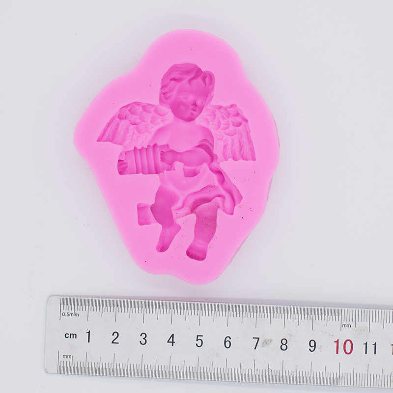 Designer DIY Cupid Angel Clay Sculpture Silicone Mold 3d Wall Panel Concrete Molds