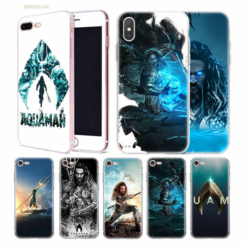 Film Case for iphone X XS XR XS Max 7 7S 8 Plus 10 5 5SE 5C 6 6S Coque Cover Silicone Phone Shell Funda Capa Aquaman Jason Momoa
