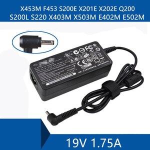 Laptop AC Adapter DC Ladegerät Stecker Port Kabel Für ASUS S200E X201E X202E Q200 S200L S220 X453M F453 X403M X503M e402M E502M