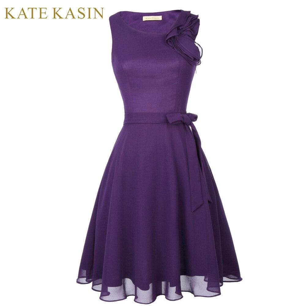 Kate kasin ruffle corto diseño púrpura Vestidos de baile 2018 fiesta ...
