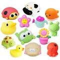 5 PCS Banho de Brinquedos na Casa de Banho Do Bebê de Brinquedo para Crianças de Água Spray Animal Macio Brinquedos De Borracha Pato Sapo Verde para Meninos Das Meninas CBT03