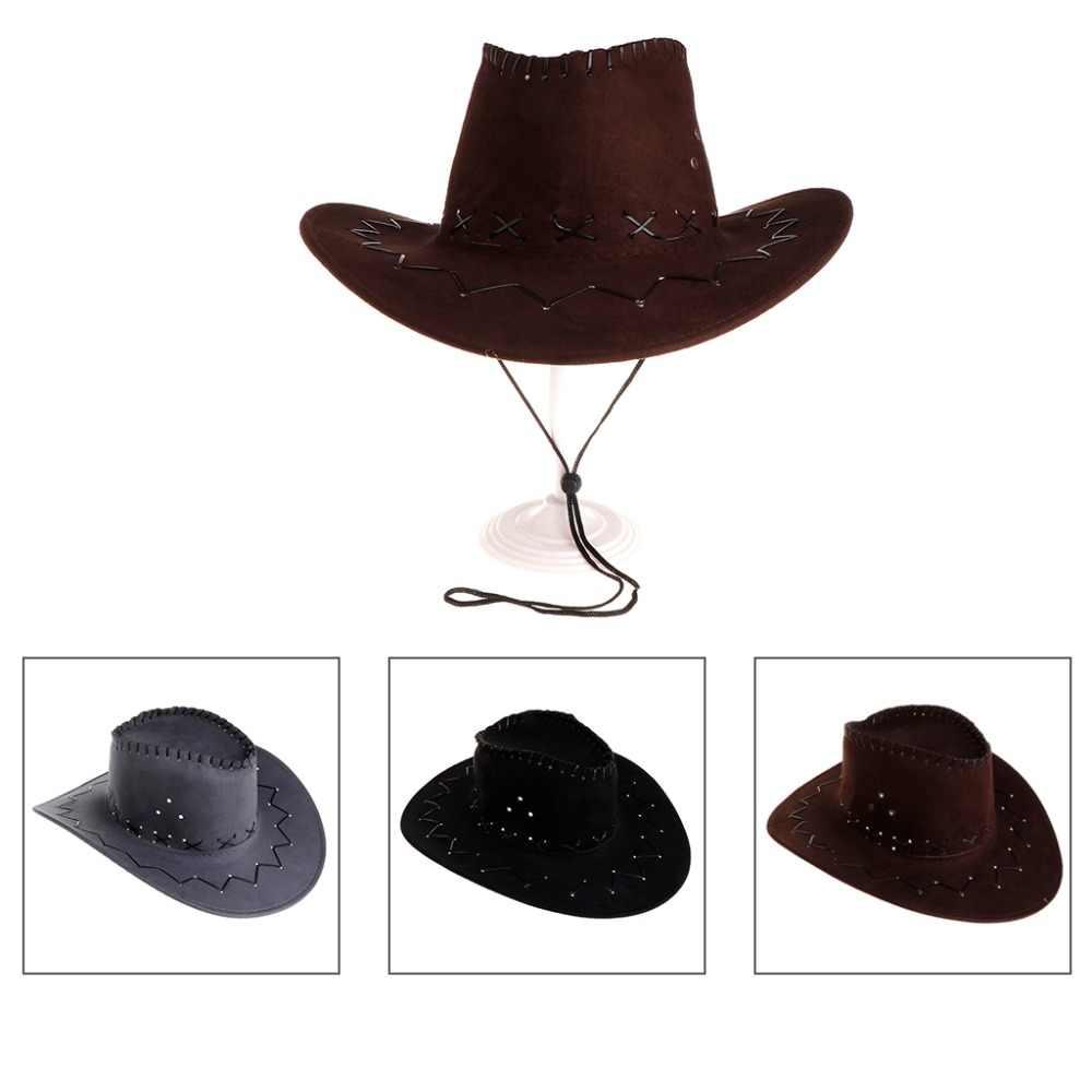 Yeni varış moda kovboy şapkası erkekler için batı parti giysileri seyahat rahat kovboy şapkası s W77