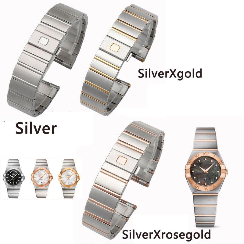 Solido acciaio inossidabile cinturino di Ricambio per o m g Double Eagle serie Della Costellazione 23 millimetri 25 millimetri watch band-in Cinturini per orologi da Orologi da polso su  Gruppo 2
