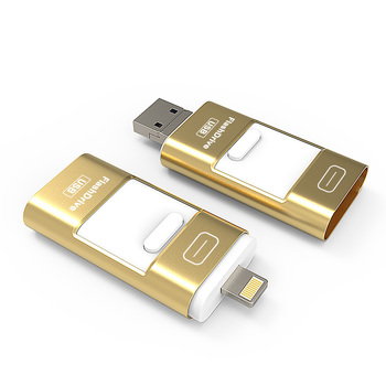 Usb Flash Drive For iPhone 5 5S 6 6Plus 6S 7 7Plus 7S 8 8Plus X  & iPad & Android Phone Otg (micro USB) & Lightning & USB 3 in 1 USB-флеш-накопитель