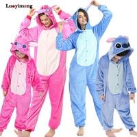 Пижама для мальчиков и девочек с рисунком единорога, комбинезон для детей, кигуруми, аниме, панда, пижама, зимняя теплая женская ночная рубаш...