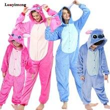 Pijama de Unicornio de punto para niño y niña, ropa de dormir de invierno, mono de Anime Kigurumi, Panda, camisón cálido
