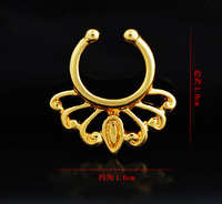 Piercing Navel 12 Pcs Lot Wholesale 316l Surgical Stainless Steel Fake Nose Rings U Shape And