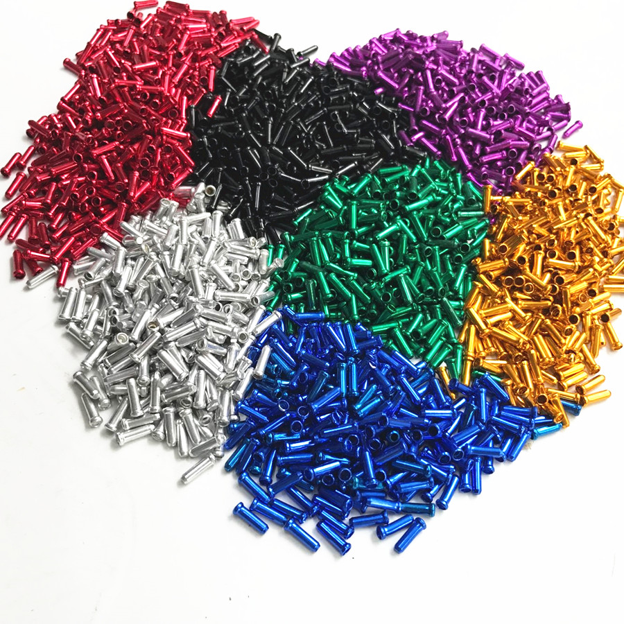 100% high quality 30Pcs / set of cycle brake aluminum alloy bicycle brake bike parts brake transmission cable cover MTB