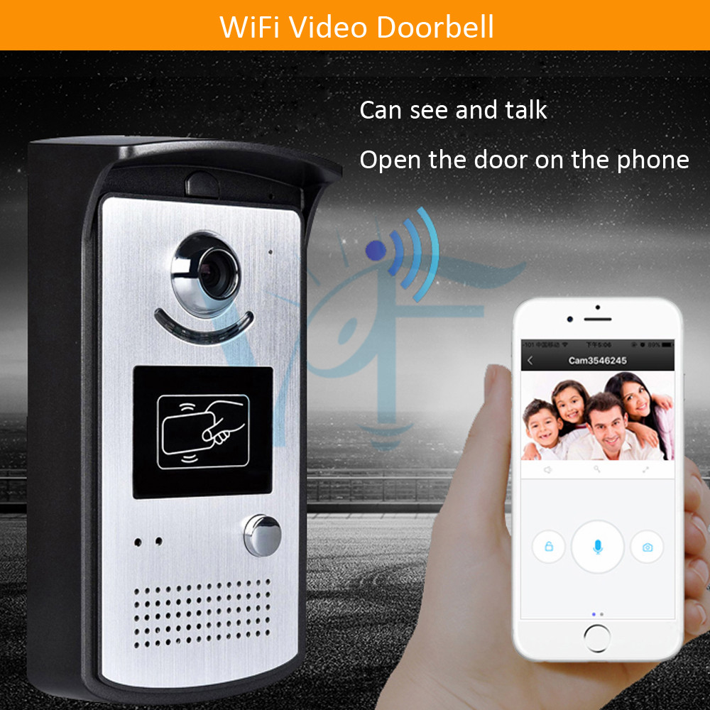 id cards gate opener home door phone video intercom system wifi