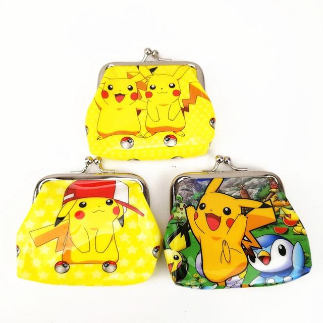 12pcs 9 9cm Pokemon Go Pikachu Mini Coin Purse Party Favors Money Bag Wallet Birthday