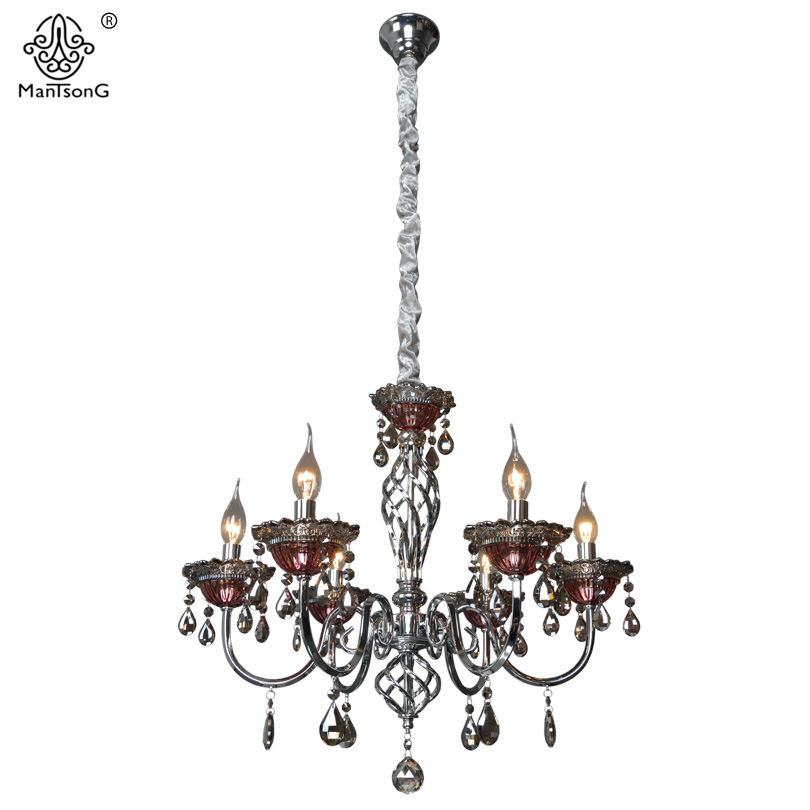 Luxury Crystal Pendants Lamp for Bedroom Living Room Lights 6/8Heads Chandeliers Luminaire Home Lighting Vintage Pendant Lamps white crystal pendants chandeliers lights vintage pendant lamp for living room bedroom europe style pendant lamps home lighting