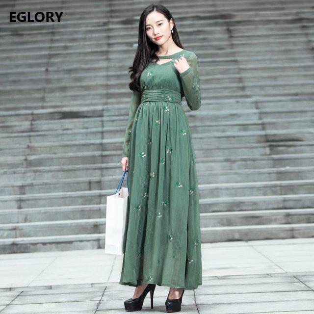 Online Shop New Princess Women Long Dress Korean Fashion High Street