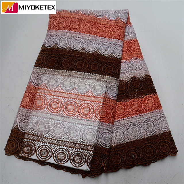 Hot Sales African Fashion Water Soluble Lace Embroidered Cord Lace African Lace Fabrics High Quality For Women Party PSA588-1