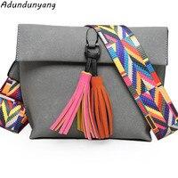 Luxury Brand Designer Bucket Bag Women Leather Wide Color Strap Shoulder Bag Handbag Large Capacity
