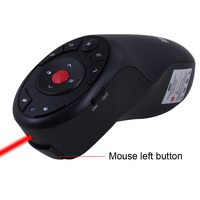Hot USB Wireless Presenter with Air Mouse and Red Laser Pointer RF PC Slide Clicker Remote Control for PowerPoint Presentation