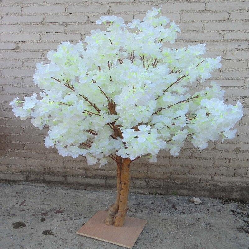 Nuevas flores de cerezo artificiales simulación de árbol melocotón falso que desea árboles para la decoración del hogar y decoraciones de centros de mesa de boda - 4