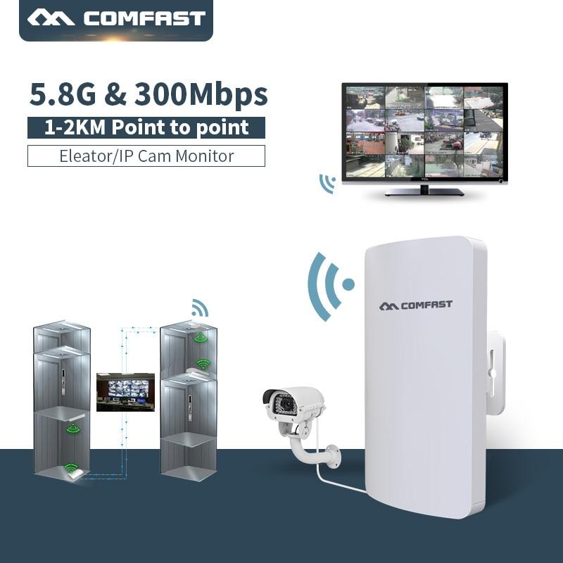 Routeur sans fil extérieur Comfast CF-E120A 5G 300 M amplificateur de signal WIFI pont réseau 11dBi antenne point d'accès wi-fi