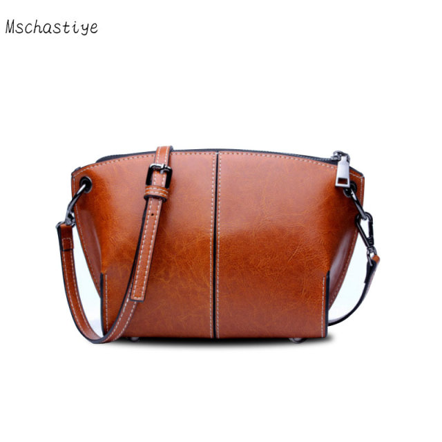 Mschastiye Genuine Leather Messenger Bags High Quality Cow Leather brown   black  blue Women casual bc66727b89