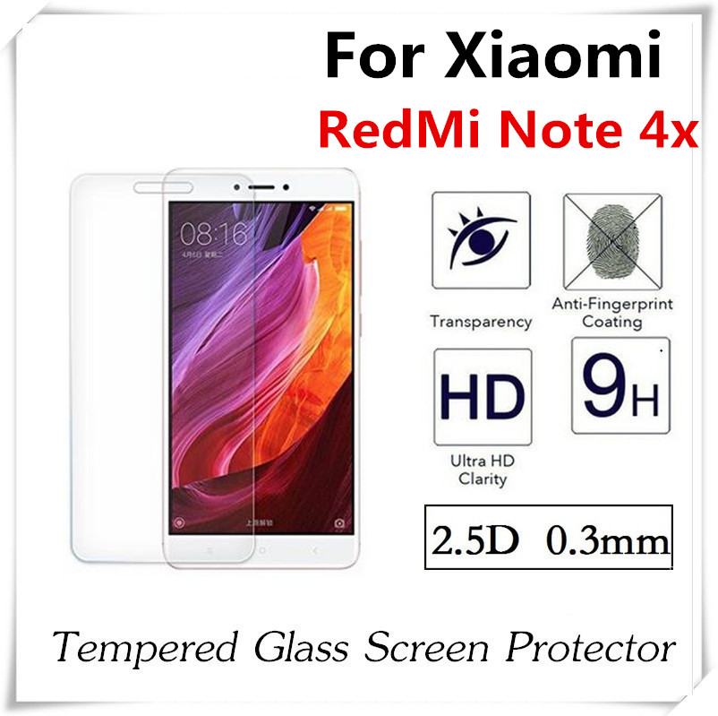 Цена за 20 штук 2.5D закаленное стекло для Xiaomi Redmi Note 4X Экран протектор Взрывозащищенный anti-развеется защитная пленка