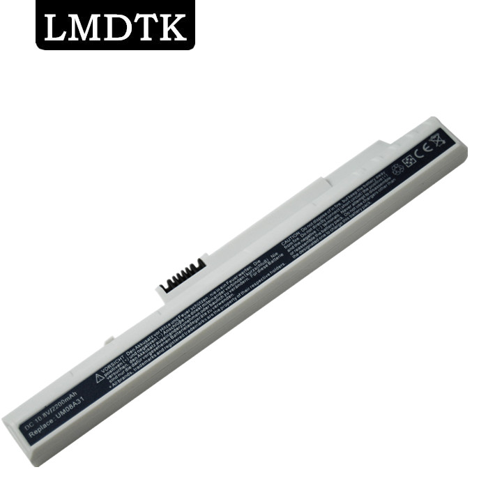 LMDTK WHITE COLOR NEW 3 cells Laptop Battery For Acer Aspire one A110 A150 D250 D150 all Series UM08B72 UM08B73 UM08B74 клавиатура topon top 73401 для acer aspire one a110 a110x 110l 150 a150x 150l zg5 series d250 series white
