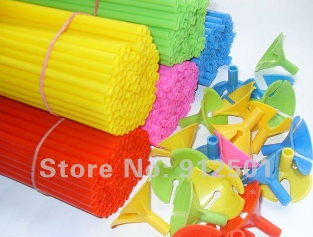 200sets/lot  wholesale balloon sticks and cups  balloons accessory  length  27cm