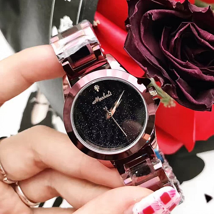 2017 New Simple Women Watches! Fashion Female Diamond WristWatch Lady Rhinestone Stainless Steel Dress Watches Clocks & Box  kimio fashion brand women watches lady quartz diamond watches lady dress watches female clock women stainless steel wristwatch
