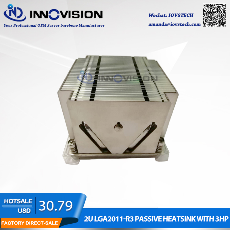 New LGA2011 2U Passive server heatsink without fan for Super micro 2U 2011 Square CPU Cooler 90%new server cooler fan for dell poweredge r910 h894r j514v v12e12bs2b5 07a021 hf104 a00 dc12v 3 0a dp n h894r