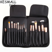 KESMALL 29 Pcs Makeup Brushes Professional Cosmetic Brush Set High Quality Nature Bristle Make Up Tools