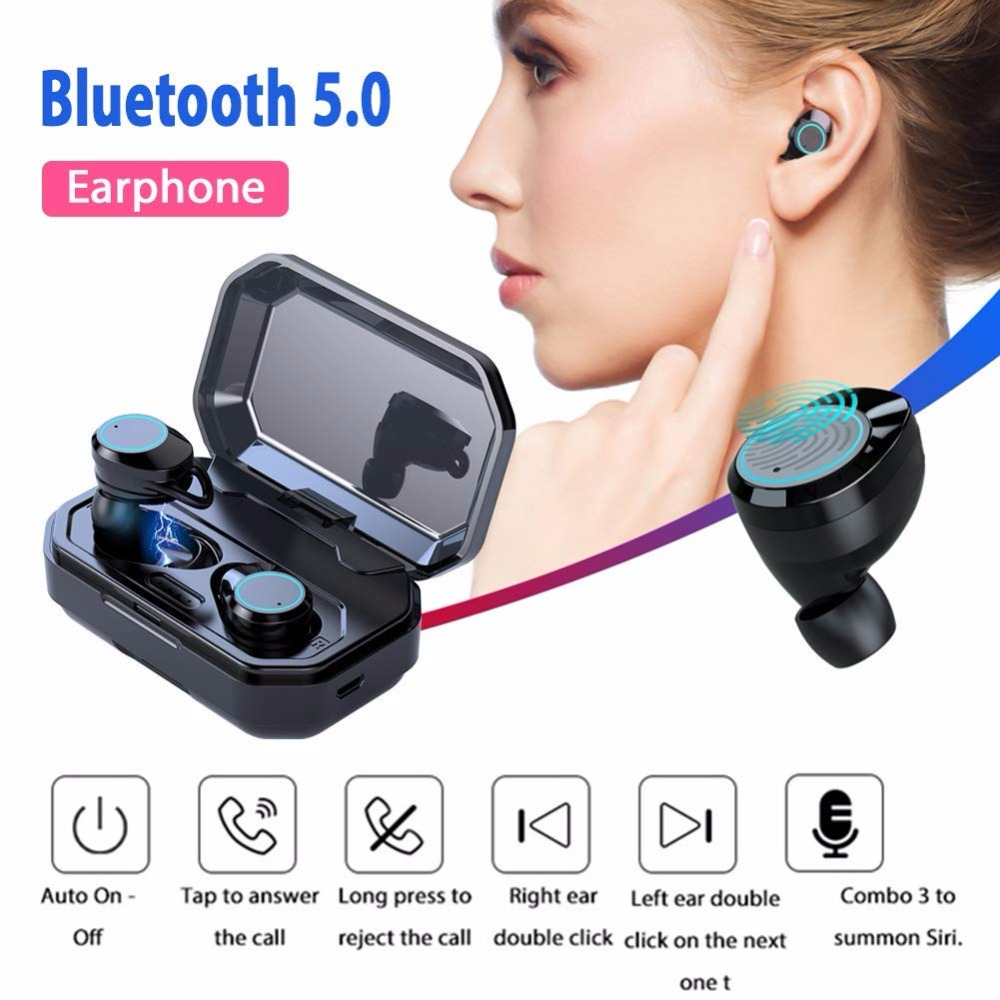 X6 TWS Earbuds Wireless Headphones Bluetooth 5.0 Earphone Bass Noise Cancelling TWS With Charging Case Box Drop Shipping