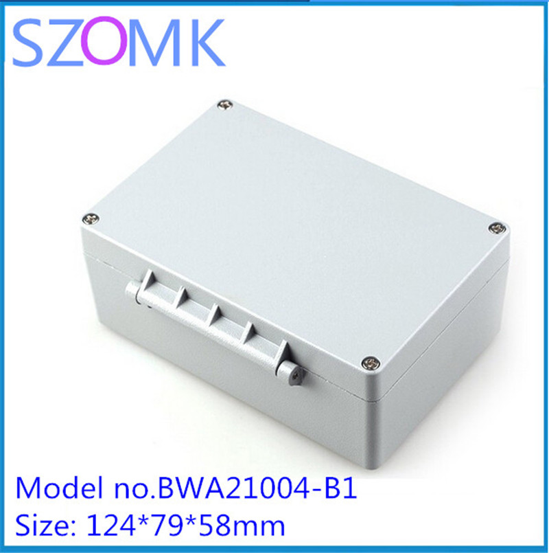 1 pcs, waterproof electronics project enclosure for pcb outlet boxes 124*79*58mm waterproof aluminum device box e cap aluminum 16v 22 2200uf electrolytic capacitors pack for diy project white 9 x 10 pcs