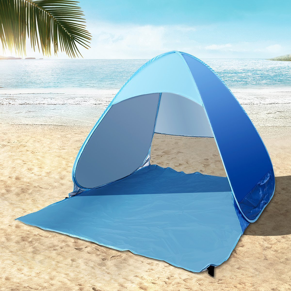 Simple automatic outdoor folding portable tent Suitable for family 2-3 summer UV protection tent Beach tent fishing tent