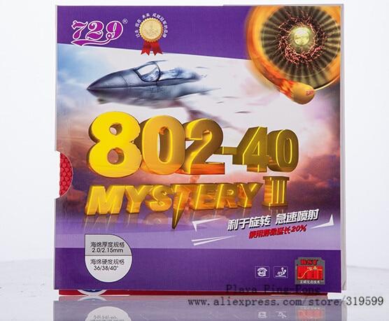 RITC 729 Persahabatan 802-40 802 40 Misteri III Pendek Pips-Out Tenis Meja PingPong Karet dengan ketebalan Spons 2.2mm