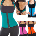 EXTREME Blue & Black Slimming Redu Thermo Cami Hot Slim Belt Neoprene Shaper Vest Sweat *USPS* Waist Trainers Women Shapewear