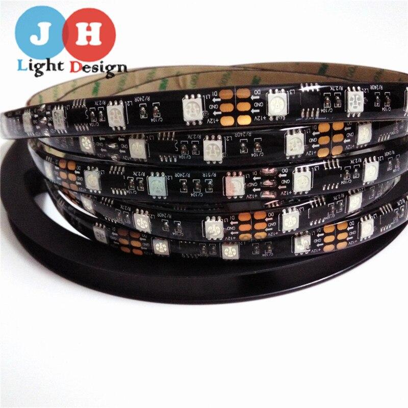 2M 5M WS2811 DC12V 30 48 60leds m RGB Addressble font b LED b font font