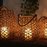 woven rope night light garden decorative lampshade Bar Cafe lanterns decorative candlestick decorations lamps ZA114712
