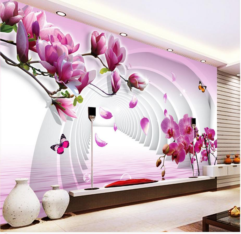 Aliexpress.com : Buy 3d Flower Wallpaper Custom Photo