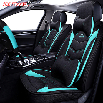 Flax car seat cover for Dodge Challenger Avenger Charger Dart RAM 1500 car styling auto accessories Automobiles Seat Covers