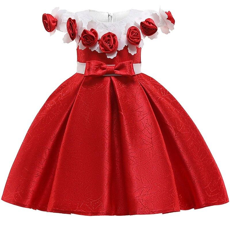Новинка; стильное платье на бретельках с одним персонажем для свадебной вечеринки для девочек; бальное платье с бантом и жемчужинами и цветами для банкета; vestidos - Цвет: as picture