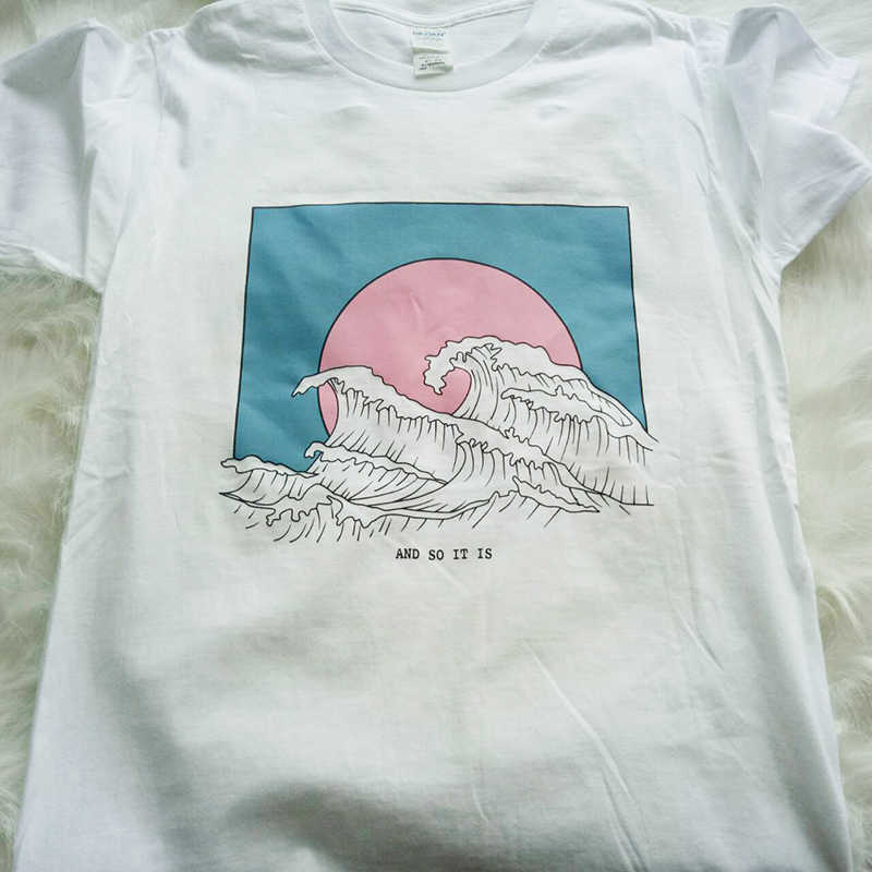 Hillbilly Baru Fashion T-shirt untuk Wanita Harajuku Atasan Musim Panas Lengan Pendek Tee Gelombang Besar T Shirt Women Blusa Putih Tees & Atasan