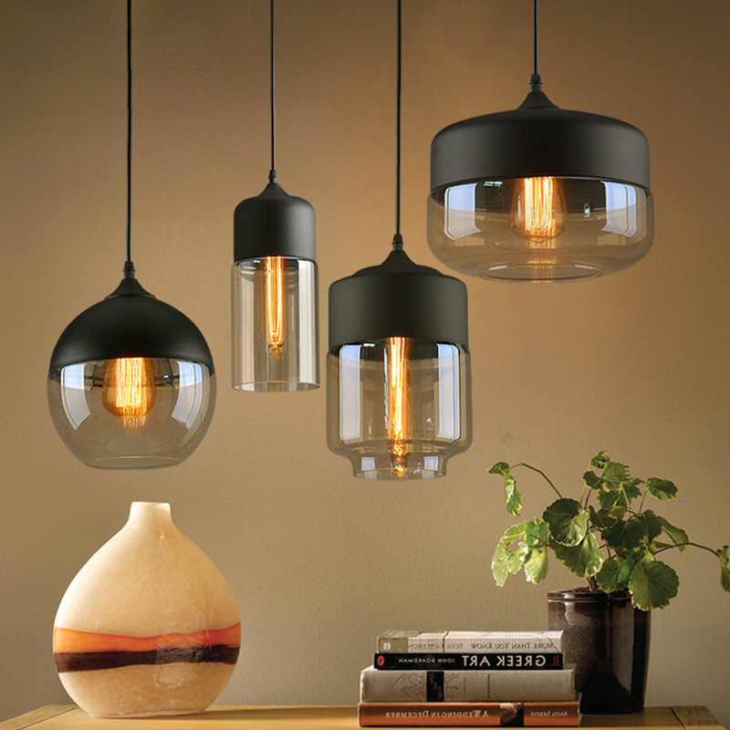 Vintage Pendant Lights Glass Abajur Suspension Luminaire Loft Retro E27 Lamp Lamparas Colgantes Industrial Home Lighting FixtureVintage Pendant Lights Glass Abajur Suspension Luminaire Loft Retro E27 Lamp Lamparas Colgantes Industrial Home Lighting Fixture