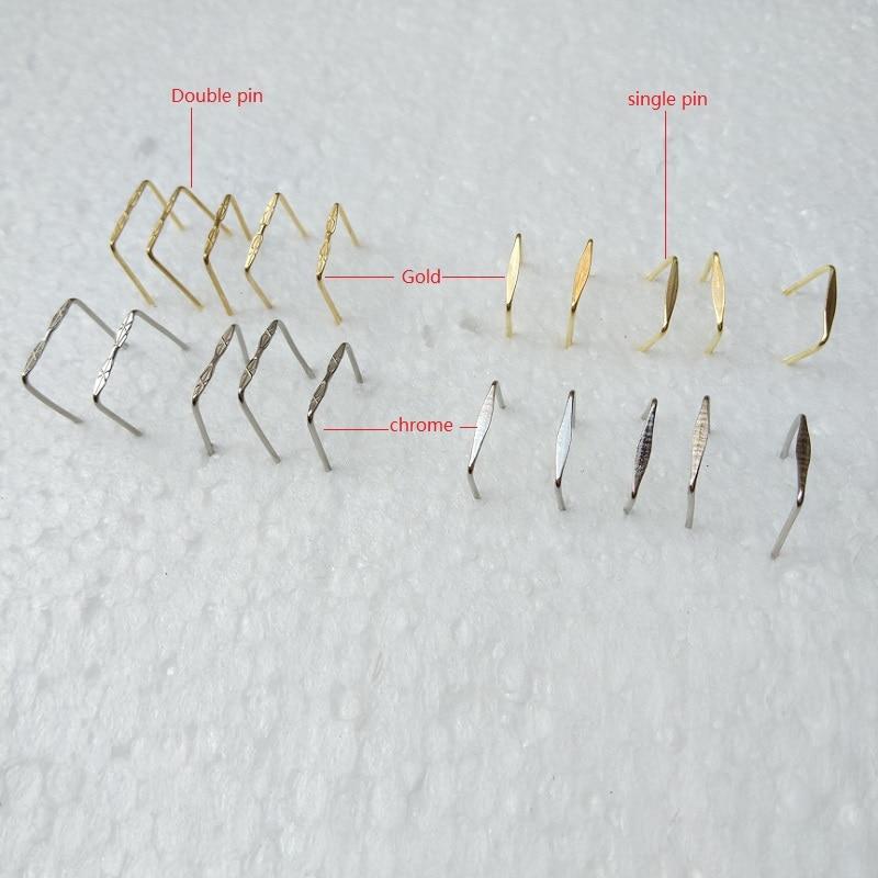 500 Silver Metal Pins Connectors Chandelier Lamp Light Crystal Prisms Part 12mm